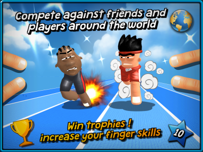 FINGER TOONS Compete against friends and players aroud the world !