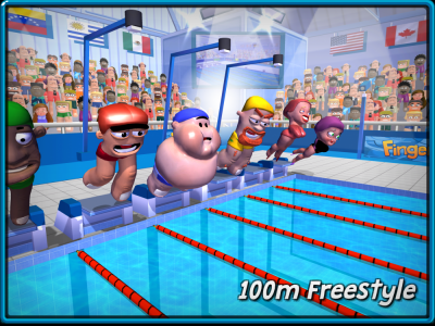 FINGER TOONS New Event! 100m Freestyle!